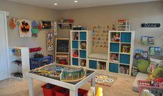 Small playroom storage ideas home decor inspirations Kids Playroom Storage, Small Playroom, Playroom Organization, Playroom Design, Playroom Decor, Playroom Ideas, Nursery Ideas, Kids Castle, Home Daycare