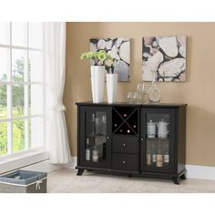 I WANT THIS ONE!!!!!    Furniture of America Synthie Cappuccino Multi-Storage Dining Buffet - Overstock™ Shopping - Big Discounts on Furniture of America Buffets