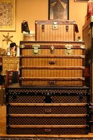 vintage Vuitton trunks