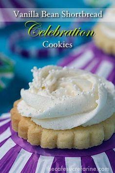 The Café Sucré Farine: Vanilla Bean Shortbread Celebration Cookies