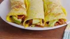 Low-Carb Breakfast Burritos - I would leave out a couple of things but it looks amazing.