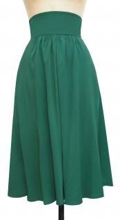 Trashy Diva High Waist 40s Skirt in Green Heavy-Weight Rayon
