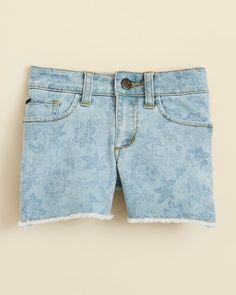Joe's Jeans Girls' Floral Print Cut Off Shorts - Sizes 2-6X
