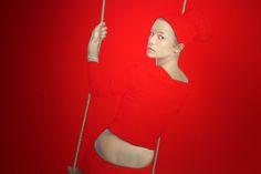 Salusitano Paints Large Detailed Portraits of Gazing Figures | Hi-Fructose Magazine
