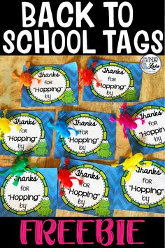 These back to school student tags are perfect for meet the teacher or open house event. The tags are FREE are great for your frog themed classroom. Preschool Open Houses, Frogs Preschool, Preschool Lessons, Preschool Activities, Welcome Back To School, Back To School Gifts, School Stuff, Kindergarten Freebies, Teacher Freebies