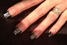 Zebra Print by Kesall - Nail Art Gallery nailartgallery.nailsmag.com by Nails Magazine www.nailsmag.com #nailart