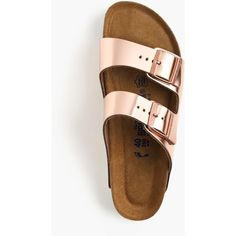 J.Crew Women's Birkenstock Arizona Sandals ($165) ❤ liked on Polyvore featuring shoes, sandals, summer sandals, summer shoes, leather shoes, cork footbed sandals and genuine leather shoes