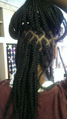 Braids.***This is how I part my hair when braiding.