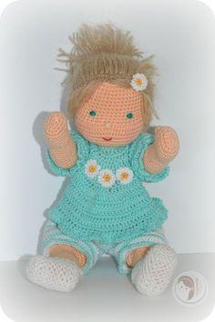 Waldorf Inspired baby by AmigurumiBB - Free crochet pattern