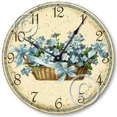 Forget Me Nots Clock