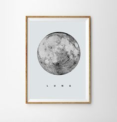 Luna Print Full Moon Poster Geometric Art Super Moon Sky Space Stars Geometric Decor Astronomy Science Wall Art moon Decor Dreamy luna lunar
