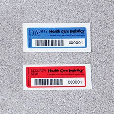 Self-Adhesive Tamper-Indicating Seals, No Residue, Barcoded When applied, these labels appear to be single color identification labels. But when an attempt is made to remove, an unalterable message appears, either on the tape or on the taped surface, which makes it evident that tampering has occurred. Available with consecutive numbers or consecutive number barcodes. Scan barcodes to simplify tracking and eliminate handwritten control logs.
