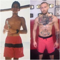 A young Papa Bear also trained with Conor McGregor and @jeanpaulmma as you can see from this picture. Coca Cola sponsored me and Conor even copied my shorts hahaha Joking of course. I wish I could fight like any of them... @jeanpaulmma @thenotoriousmma #blackjaguarwhitetiger by blackjaguarwhitetiger