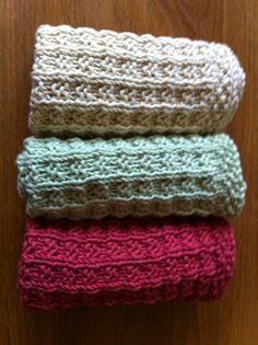 knitted facecloths, free pattern Ravelry