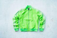 Pharrell Williams x adidas Originals LuxuryTracktop - Lime from Sneaker Politics