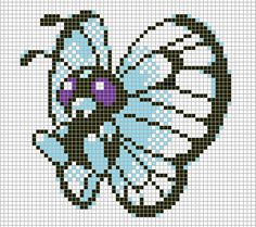 Pokemon from the game Pokemon yellow. Placed in grid format to make it easier for pixel-arters to create on minecraft, in hama form, cross-stitch or oth. Hama Beads, Pokemon Perler Beads, Cross Stitch Designs, Cross Stitch Patterns, Block Patterns, Pokemon Sprites, Art Pokemon, Pokemon Pokedex, Pokemon Chart
