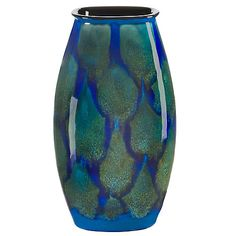 Buy Poole Pottery Alexis Manhattan Vase, Blue Online at johnlewis.com
