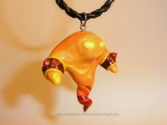 Fire Elemental Necklace with Leather Cord or Metal Chain (Your Choice)