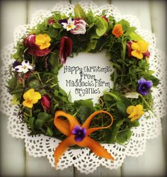 Festive greetings to all my lovely pinterest friends. Lovely to have a few edible flowers at this time of year.