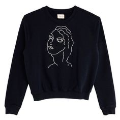 Paloma Wool Navy Guiri Sweatshirt ($57) ❤ liked on Polyvore featuring tops, hoodies, sweatshirts, blue sweatshirt, navy top, embroidered top, navy sweatshirt and cotton embroidered tops
