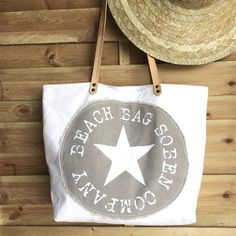 Image of White beach bags 1 gris/beige dispo