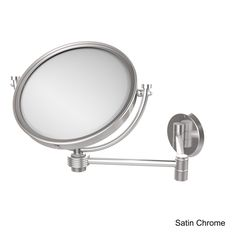 Allied 8-inch Wall-Mounted Extending 2X Magnification Makeup Mirror with Groovy Accent