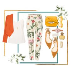 """""""That Summer Glow"""" by tiarheanne ❤ liked on Polyvore featuring Ted Baker, Wanderlust + Co, MaxMara, Alice + Olivia, Jimmy Choo, Tod's, STELLA McCARTNEY, New Look, Forever 21 and Sisley"""