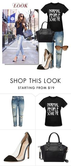 """Normal people scare me!"" by curlysuebabydoll ❤ liked on Polyvore featuring Gianvito Rossi, Pink Haley and Michael Kors"