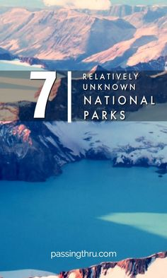Visit these relatively unknown USA National Parks for an under the radar crowd-free experience with awe-inspiring beauty and wildlife encounters. #travel #usa #nationalparks