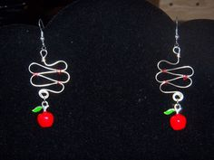 Twisted Apple Dangle Earrings by OurBeadedCharms on Etsy, $9.00