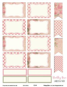Shabby Rose Labels and Tags – Free Printable Download