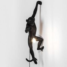 Monkey Light Hanging Black - Seletti - Do Shop