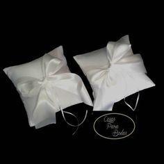 CO_145 Cojines Blancos para  Anillos y Arras  #Bodas
