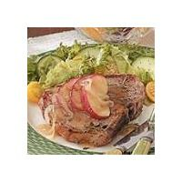 Pork Chops with Apples by Maggie Levy