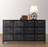 Restoration Hardware Baby & Child's Vintage Locker Wide Dresser:As sturdy as the all-American originals that inspired it, the Vintage Locker Collection has authentic details like vented drawer fronts and an antiqued finish for a timeworn feel.