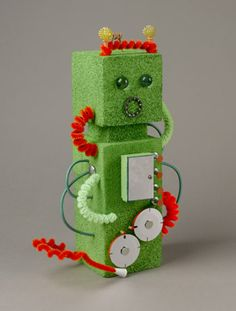 Fun Green Robot Craft