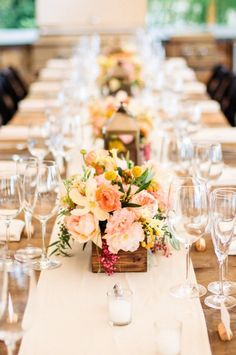 Rustic table decor: http://www.stylemepretty.com/2015/01/27/rustic-summer-wedding-by-the-sea/ | Photography: Wildflower Studio - http://www.wildflowerstudiophoto.com/