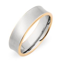 Christian Bauer Concave Two Tone Wedding Ring Steven Singer Jewelers- Men's Gold Wedding Band