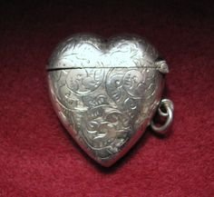 Victorian/1898 HEART VESTA/Match Safe in by Wantitnowjewelry