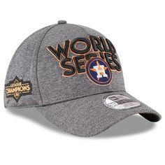 New Era Houston Astros Heather Gray 2017 American League Champions Locker Room 39THIRTY Flex Hat