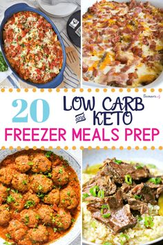 A list of Keto & Low Carb Frozen or Freezer Meals Recipes that are perfect for meal prep. Also includes tips to buy frozen meals at the store. Healthy Low Carb Recipes, Diet Recipes, Healthy Food, Dessert Recipes, Shake Recipes, Healthy Weight, Smoothie Recipes, Soup Recipes, Smoothies