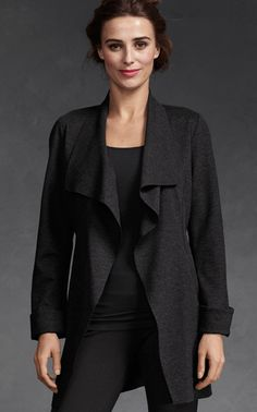 Take Charge Jacket – Charcoal - Jackets - CAbi Fall 2012 Collection