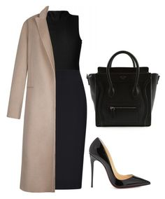 """""""#31"""" by pariszouzounis ❤ liked on Polyvore featuring CÉLINE, Christian Louboutin, Jaeger and Sandro"""