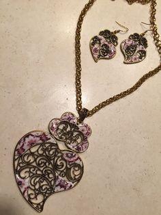 Beautiful Set Necklace and Earrings replica por LasJoyitasDeMarie