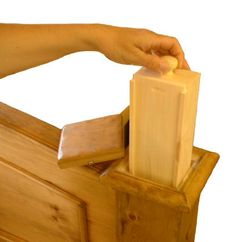 Secret Compartment Furniture   Bedpost Stash
