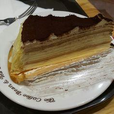 커피빈 티라미수크레이프 케이크