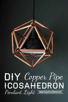 Sorry for the title! Assemble a stylish pendant light using copper pipe.