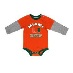 Infant Colosseum Orange Miami Hurricanes Long Sleeve Bodysuit