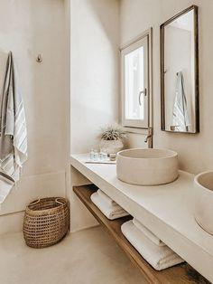 Modern Bathroom Decor, Bathroom Interior Design, Minimal Bathroom, Bathroom Lighting, Neutral Bathroom, Bathroom Designs, Minimalist Bathroom Design, Colorful Bathroom, Dyi Bathroom