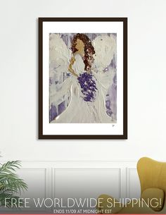 Discover «Angel», Numbered Edition Fine Art Print by Renee Jones - From $19 - Curioos